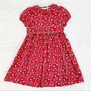 EdgeHill collection floral pleated collar dress